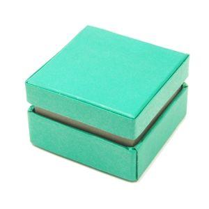 Dárková krabička 7x7x4,5 cm - zelená