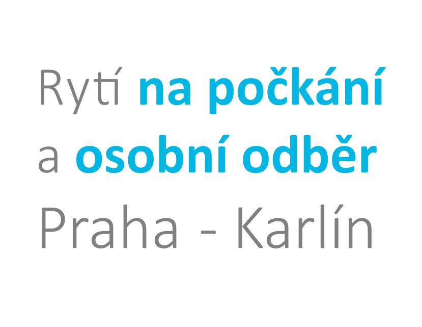 Razítka a jmenovky na dveře na počkání Praha Karlín
